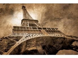 Fotobehang Eiffeltoren, Parijs | Sepia | 312x219cm
