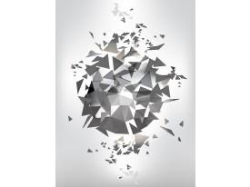 Fotobehang Papier Abstract, 3D   Grijs   184x254cm