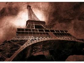 Fotobehang Eiffeltoren, Parijs | Bruin | 312x219cm