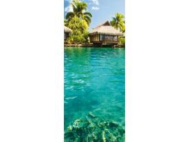 Deursticker Muursticker Natuur | Turquoise | 91x211cm