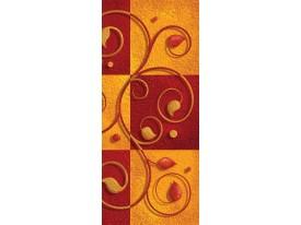 Deursticker Muursticker Modern  | Oranje | 91x211cm