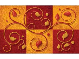 Fotobehang Vlies | Modern | Oranje, Rood | 368x254cm (bxh)