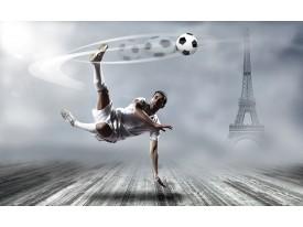 Fotobehang Papier Voetbal | Grijs | 368x254cm