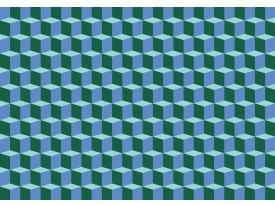 Fotobehang Vlies   3D   Blauw, Groen   368x254cm (bxh)