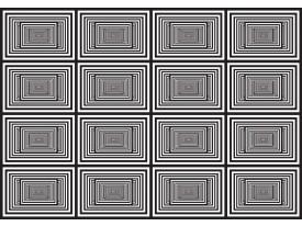 Fotobehang Vlies | Design | Zwart, Wit | 368x254cm (bxh)