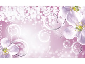 Fotobehang Papier Bloemen   Paars, Roze   368x254cm