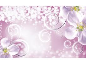 Fotobehang Vlies   Bloemen   Paars, Roze   368x254cm (bxh)