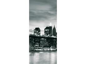 Fotobehang New York | Zwart | 91x211cm