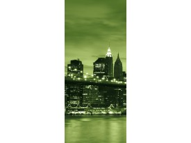 Deursticker Muursticker New York | Groen | 91x211cm