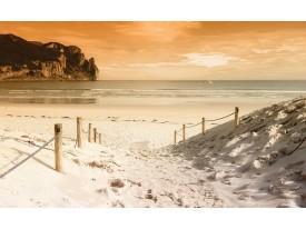 Fotobehang Strand, Zee | Crème | 416x254