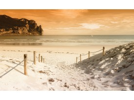 Fotobehang Vlies | Strand, Zee | Crème | 368x254cm (bxh)