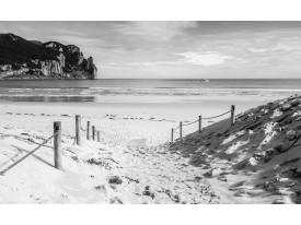 Fotobehang Strand, Zee | Grijs | 416x254