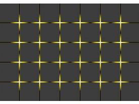 Fotobehang Vlies   Design   Grijs, Geel   368x254cm (bxh)
