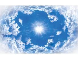 Fotobehang Papier Lucht, Wolken | Blauw | 254x184cm