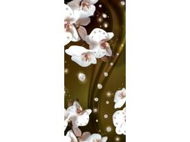 Fotobehang Orchidee, Bloemen | Wit | 91x211cm