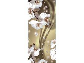 Deursticker Muursticker Orchidee, Bloemen | Goud | 91x211cm