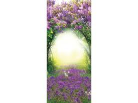 Deursticker Muursticker Natuur | Paars, Groen | 91x211cm