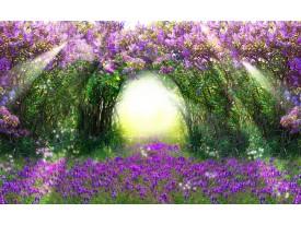 Fotobehang Papier Natuur | Groen, Paars | 368x254cm