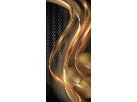 Deursticker Muursticker Design | Goud, Bruin | 91x211cm