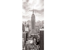 Deursticker Muursticker Steden | Sepia | 91x211cm