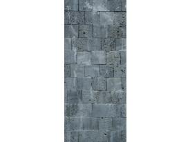 Deursticker Muursticker Stenen | Grijs | 91x211cm