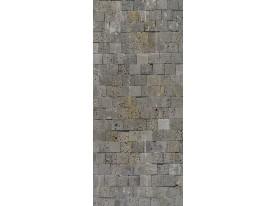 Fotobehang Stenen, Muur | Grijs | 91x211cm