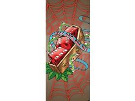 Deursticker Muursticker Alchemy, Gothic | Rood | 91x211cm