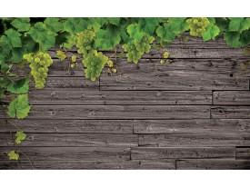 Fotobehang Vlies | Hout | Grijs, Groen | 368x254cm (bxh)