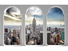 Fotobehang Papier Skyline, Modern | Wit | 254x184cm