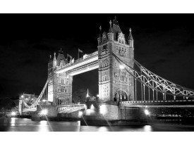 Fotobehang London, Brug | Zwart | 416x254
