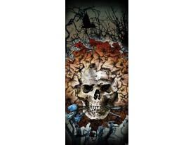 Deursticker Muursticker Alchemy, Gothic | Grijs | 91x211cm