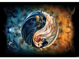 Fotobehang Alchemy Gothic | Blauw | 104x70,5cm