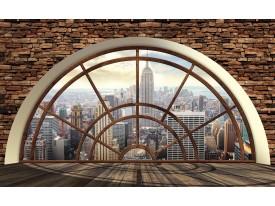 Fotobehang Papier Skyline, Modern | Bruin | 368x254cm