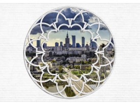 Fotobehang Modern, Skyline | Wit | 152,5x104cm