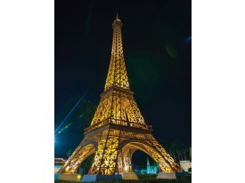 Fotobehang Papier Parijs, Eiffeltoren | Goud | 184x254cm