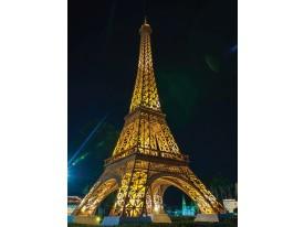 Fotobehang Eiffeltoren | Goud | 206x275cm