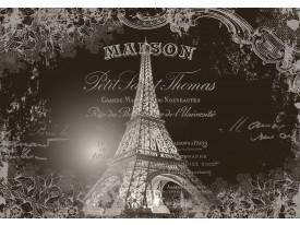 Fotobehang Vlies | Eiffeltoren, Parijs | Sepia | 368x254cm (bxh)