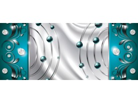 Fotobehang Modern   Zilver, Turquoise   250x104cm
