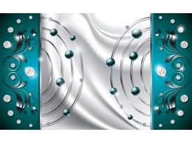 Fotobehang Modern | Zilver, Turquoise | 312x219cm