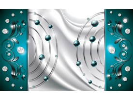 Fotobehang Vlies | Modern | Zilver, Turquoise | 368x254cm (bxh)