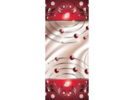 Deursticker Muursticker Abstract   Rood   91x211cm