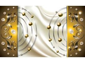 Fotobehang Papier Modern | Goud, Crème | 254x184cm