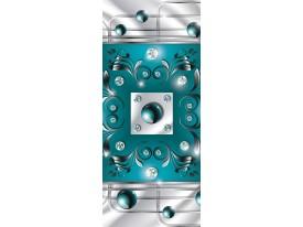 Fotobehang Design | Zilver, Turquoise | 91x211cm