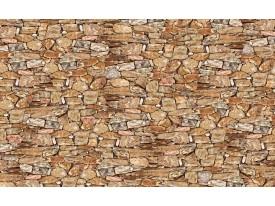 Fotobehang Papier Muur, Stenen   Bruin   254x184cm