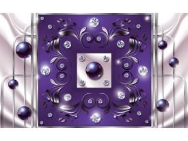 Fotobehang Modern, Slaapkamer   Paars, Zilver   152,5x104cm