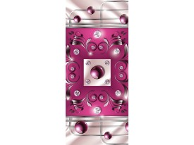 Fotobehang Design | Roze | 91x211cm