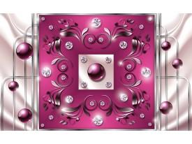 Fotobehang Modern, Slaapkamer | Roze, Zilver | 312x219cm