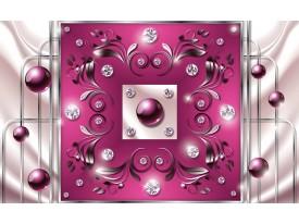 Fotobehang Vlies | Modern, Slaapkamer | Roze, Zilver | 368x254cm (bxh)