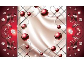 Fotobehang Vlies | Modern, Slaapkamer | Zilver, Rood | 368x254cm (bxh)