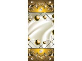 Deursticker Muursticker Abstract   Goud   91x211cm
